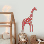 Origami Zürafa Duvar Aksesuarı resmi